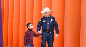 Sheriffs join the fight and stand up for  children at the Children's Rehabilitation Istitute TeletonUSA !