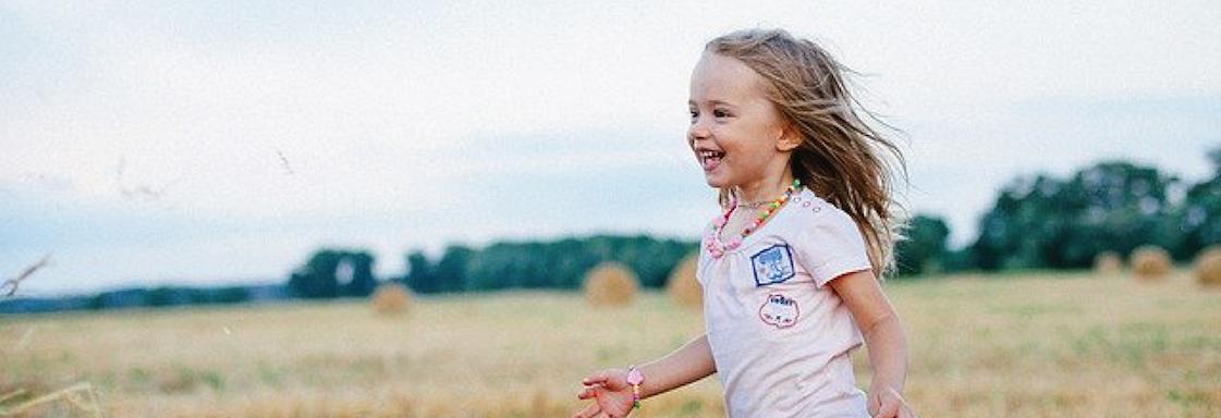 Girl running.