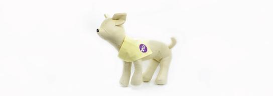 Yellow dog bandana
