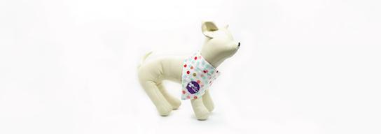 Dog bandana with dot pattern
