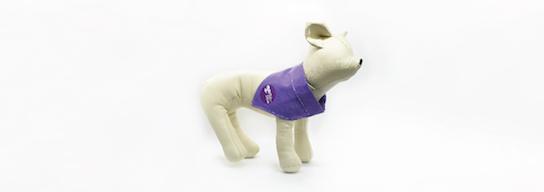 Purple dog bandana