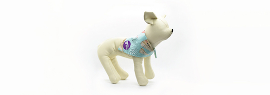 Dog bandana with teepee pattern