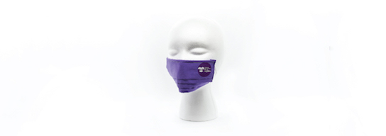 Purple face mask with CRIT logo