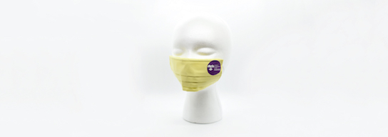 Yellow face mask with CRIT logo
