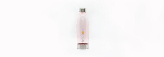 Light pink TeletonUSA water bottle