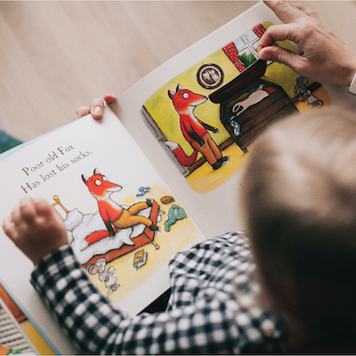 Reading to your child.